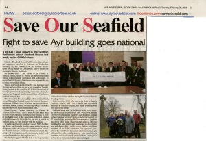 Newspaper report on debate in the Scottish Parliament on 20 February 2012