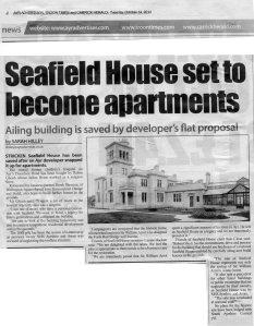 Newspaper article entitled