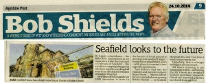 Newspaper article from Bob Shields page entitled Seafield Looks to the Future