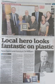 Image of newspaper article entitled Local Hero looks fantastic on plastic.