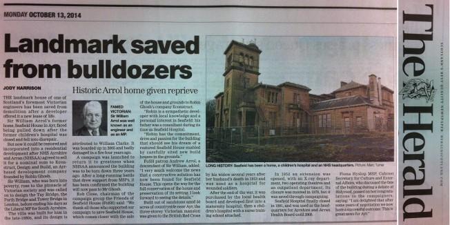 Newspaper of Herald newspaper article entitled