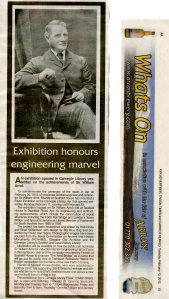Newspaper article about the exhibition