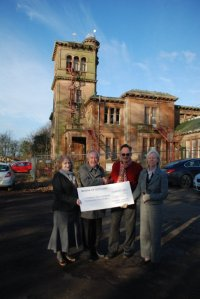 Kyle and Carrick Civid Society Handing over a cheque to support the Friends of Seafield House.