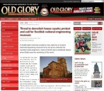Image of article on Threat to Seafield House in Old Glory: Steam and Vintage Preservation magazine - online version
