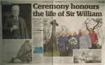 Centre page article on the Wreath Laying for Sir William Arrol.