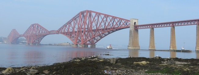 Photograph of Forth Bridge from South Queensferry shore