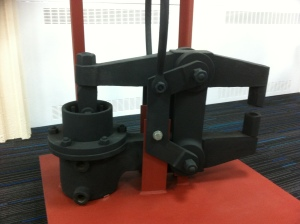 Photograph of a riveting machine