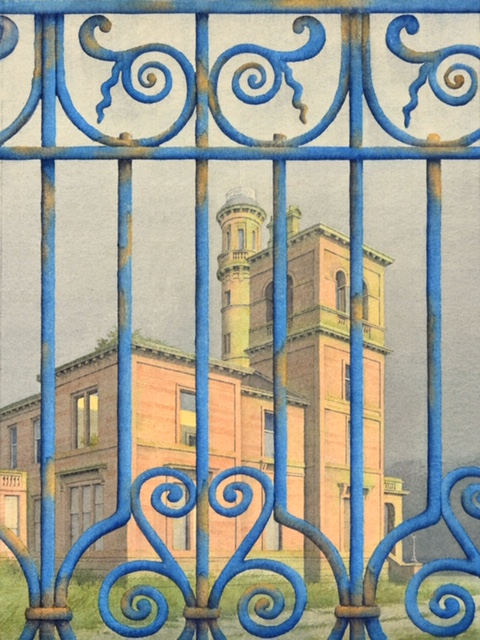 Seafield House, watercolour by Gerald Stamp Copyright Gerald Stamp, 2019