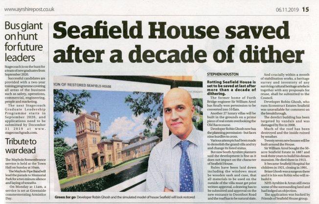 Ayrshire Post article on Seafield House 5 November 2019001